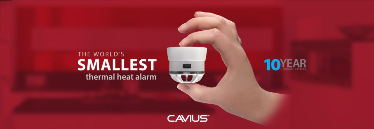 Cavius the worlds smallest thermal heat alarm